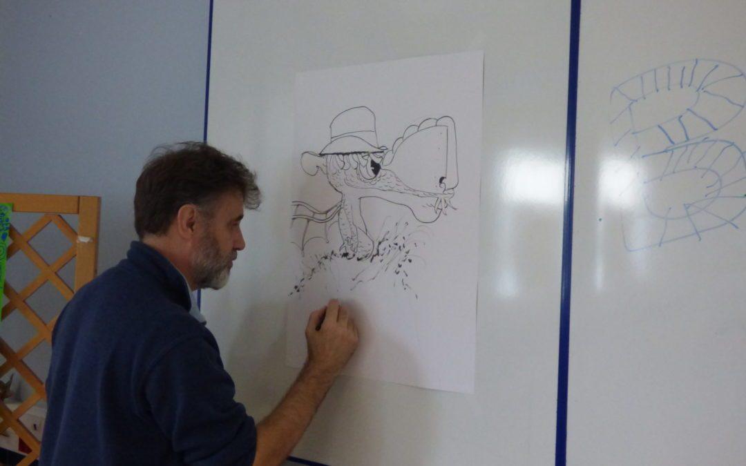 Il dessine des dragons !