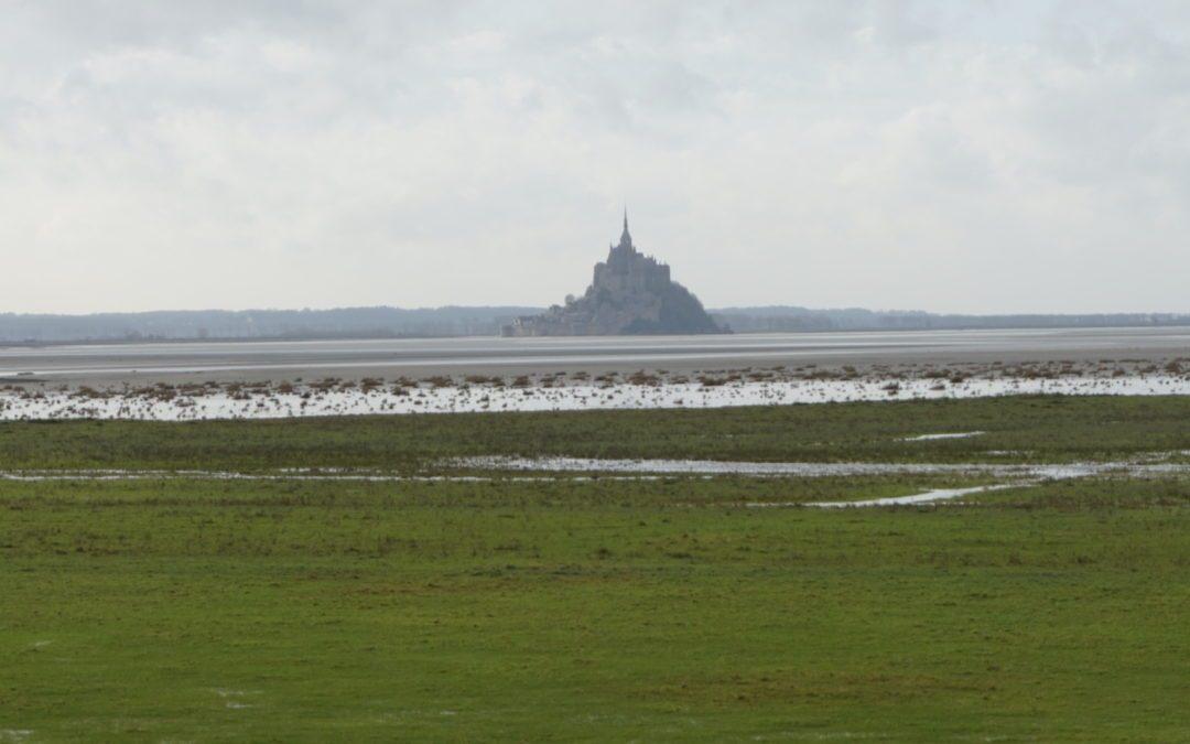 Les 5C et 5D en sortie dans la baie du Mont-Saint-Michel